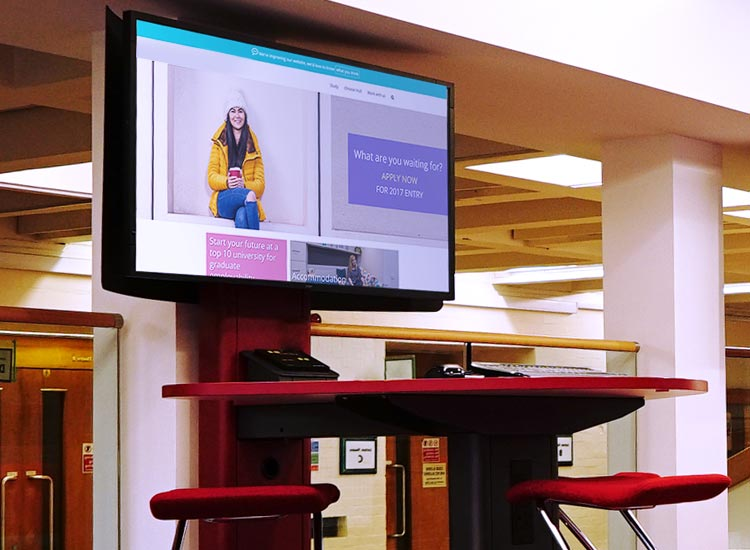 Schools & Higher Education - We are an experienced digital signage  installation company who will help and advise you of the benefits a signage  system will ...